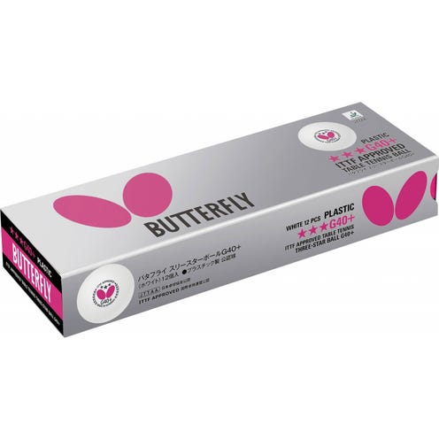 Butterfly 3-star G40+ 12-pack