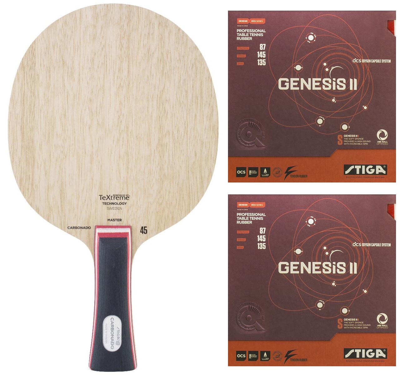 Stiga Carbonado 45 + Genesis II S